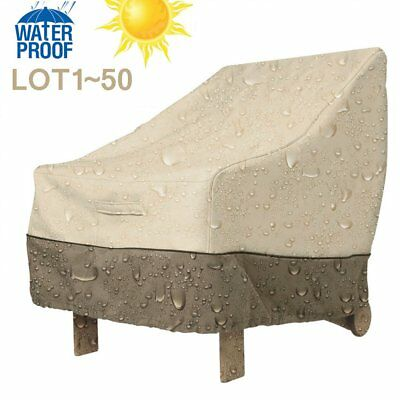 Lot Waterproof Outdoor High Back Patio Single Chair Cover Protection Furniture K