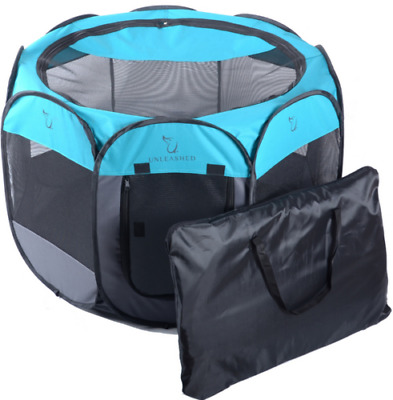 8 Panel Portable Puppy Hund Katze Laufstall Crate Cage Zwinger Zelt Play Pen F