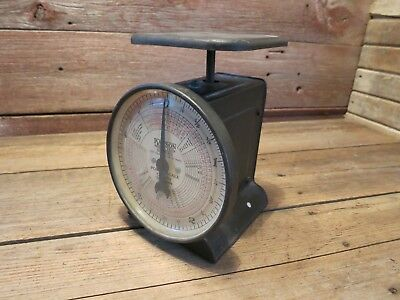 Vintage Dated 3-26-1944 Hanson Model 1509 Postal Scale 5-Pound Scale Made USA!