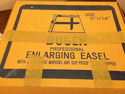 Vtg Bogen 11 x 14 Professional Enlarging Easel With Adj Margins Paper Gripper