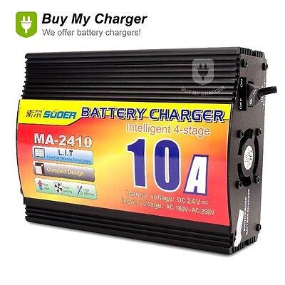 24V 10A Lead Acid Battery Charger Charger Auto Motorcycle Digital Display