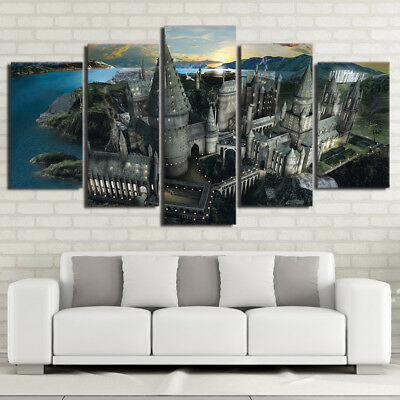 Harry Potter School Hogwarts HD Canvas Wall Art Picture - Printed Home Decor