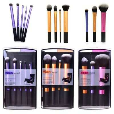 Real Techniques Face Eye Makeup Brush Set Buffing Contour Foundation Crease  Kit