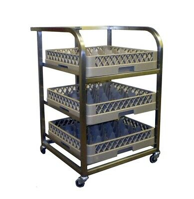Craven GLA3-Z Stainless Steel Back Bar Dishwasher Trolley - (Boxed New)
