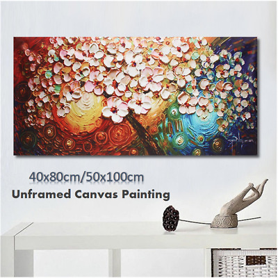 Flower Tree Abstract Canvas Print Oil Painting Art Picture Home Room Wall Decor