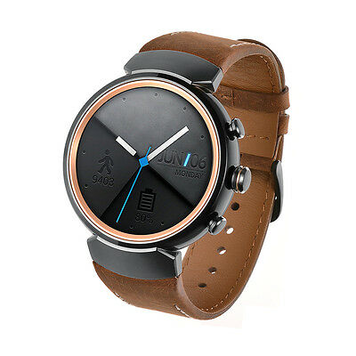 Balerion-Watch band for ASUS ZenWatch 3,Quick Release Genuine leather Brown