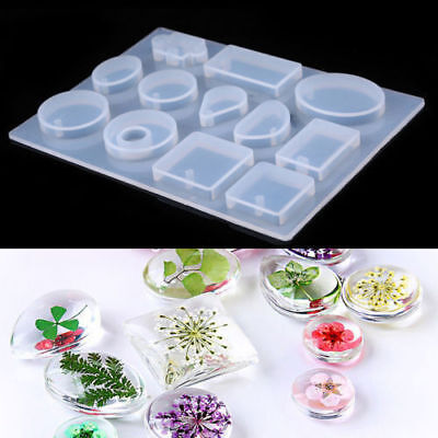 Silicone Mold Mould For DIY Resin Necklace Pendant Jewelry Making Craft Tool