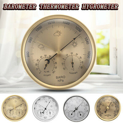 70-132MM Meter Wall Clock Hanging Barometer Thermometer Weather Hygrometer