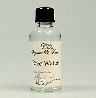 50ml Pure Organic Rose Water Toner. Steam Distilled in Glass Bottle