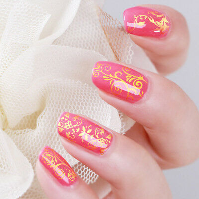 108x Nail Hot Stamped Flower Lace Nail Art Water Transfer Sticker 3D Decal Decor