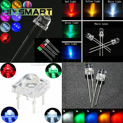 Round/Straw Hat/Flat/Rectangle/Piranha LED Light colourful Assortment Diodes AU