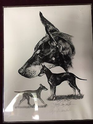 Lyn St. Clair Stubbs 1987 Limited Edition Signed Print of Manchester Terrier