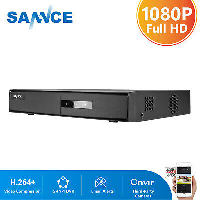 SANNCE H.264 8CH 1080N 5IN1 DVR Home Security Video Recorder Smart Search Motion