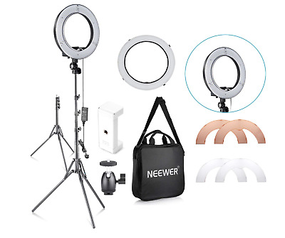 Neewer 14-inch Outer 10-inch Inner Dimmable LED Ring Light Youtube Vlog Makeup