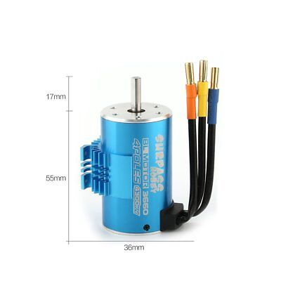 SURPASSHOBBY 3660 4300KV 3T Brushless Motor with Heat Sink for 1/8 RC Car FS
