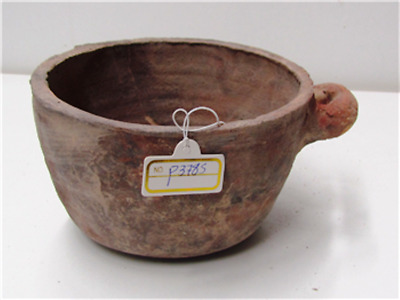 herodian terra cotta cooking bowl with handle very rare