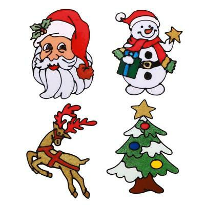 Silicone Glass Stickers Large Window Door Wall Paste Christmas Ornaments Decor