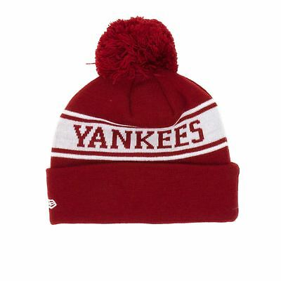 New Era New York Yankees Seasonal Jake Beanie - Cardinal/Off White