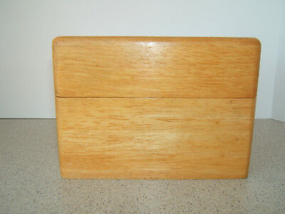"Vintage Wooden Large Recipe Box ~ Brass Hinged ~ Vintage Recipes 7"" x 5"" x 5.25"""