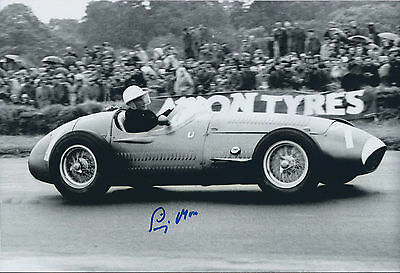Stirling MOSS SIGNED 12x8 Photo AFTAL COA Autograph Private Signing RARE