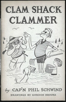 Htf,vtg 1970 Clam Shack Clammer,how To Get To Cape Cod Shellfish,seashells Book