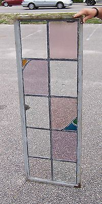 Vintage Stained Glass Window Panel #1