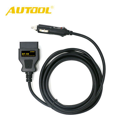 AUTOOL BT-50 car OBD2ECU cigarette lighter adapter power cable