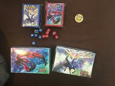 Pokemon Card Game Premium Trainer's Xy Collection Lot Deck Box Sleeves Dice