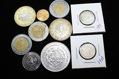 Mexico  10 assorted coins   lot J 165