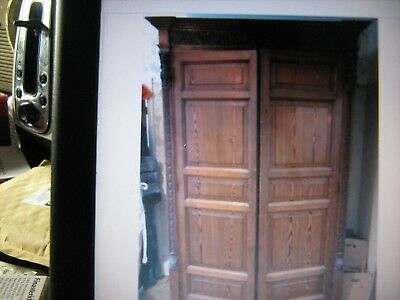 Antique Italian Wardrobe Armoire, pitch Pine Knock Down Type , price reduced