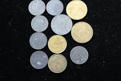 Germany Third Reich 11  assorted coins   lot J 167