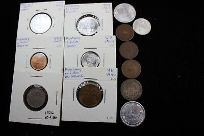 Hungary   13  assorted coins   lot J 154