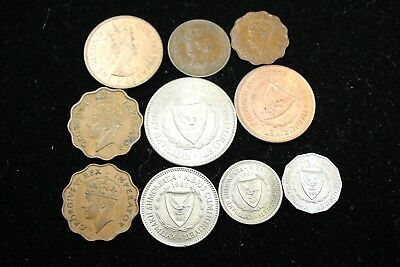 Cyprus 10 assorted coins   lot J 166