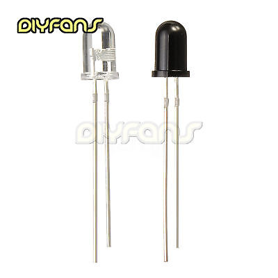 20/50/100PCS 3/5mm 850nm 940nm Universal LED IR Infrared Emitter Empfänger Diode