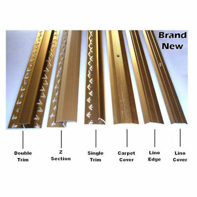 Carpet Strips Door Bars Metal Edgings Single Double Cover GOLD/SILVER 900mm Long