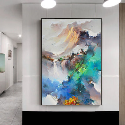 YA887 Large Modern Abstract Home decor art Hand-Painted oil painting Landscape