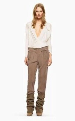 94824d5983 SEE BY CHLOE Drop Crotch Tapered Skinny Silk Trousers Pants Sz 40 US 4 EUC