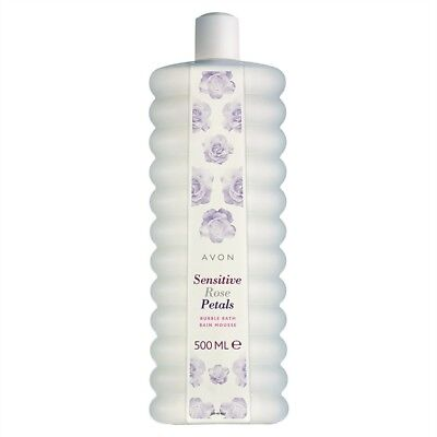AVON SENSITIVE ROSE PETALS  BUBBLE BATH  3 x 500ml ** FREE POSTAGE**