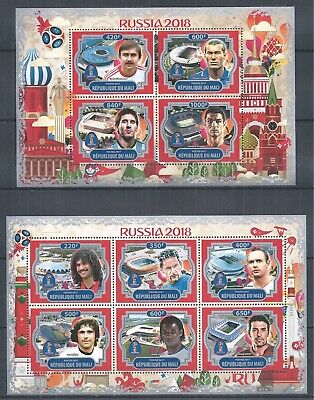 Republique Du Mali 2017 Mini Sheet Set Mnh Soccer Russia World Cup 2018 Stars