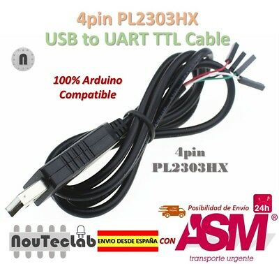 4pin PL2303 USB to UART TTL Cable Module RS232 Serial 4-pin PL2303HX Cable