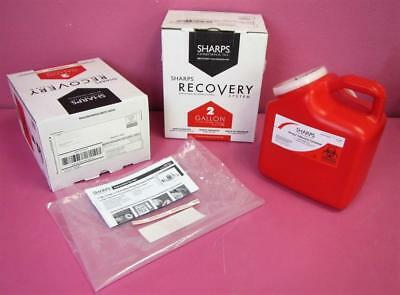 2 New Sharps Compliance 2-Gallon Medical Waste Needle Collection Container Lot