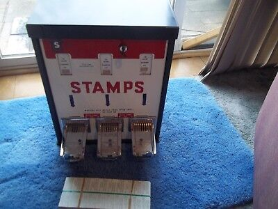 Great Condition SHIPMAN  Stamp Vending Machine with lock and key
