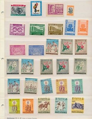 4 Stock Sheets Of Mint (Mostly) Stamps From Afghanistan • Over 100 Issues