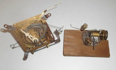 Vintage Hubert Herr Musical Cuckoo Clock Movement and Music Box Mechanism Parts