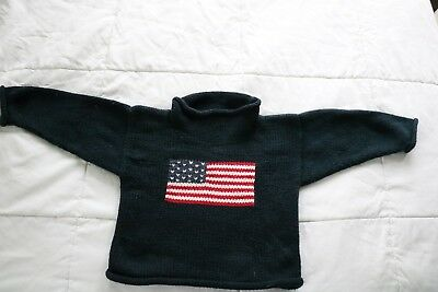 Claver navy blue American Flag sweater 2t