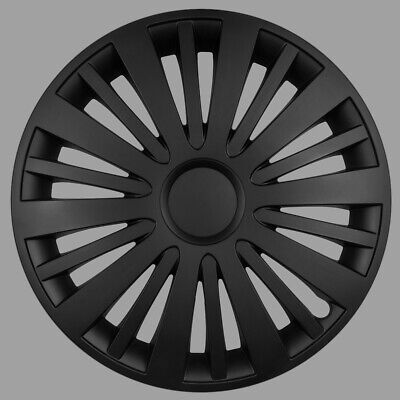 Set of 16/'/' Wheel trims hubcaps for Vauxhall Astra black
