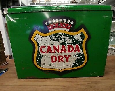 Vintage Canada Dry Picnic Cooler With Tray