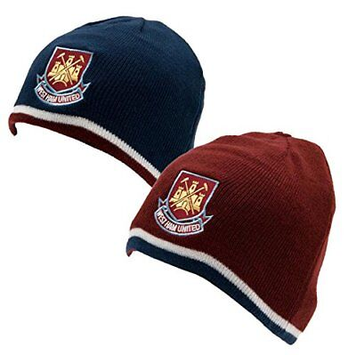f8aaad37ac5 West Ham United FC Official Football Knitted Bronx Beanie Hat 2 PACK