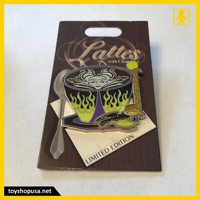 Disney Parks Lattes With Character Sleeping Beauty Maleficent Pin LE
