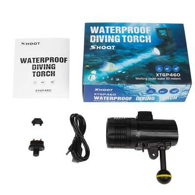 Diving Flashlight led Shoot 60m subacquea,torcia waterproof,1500 lume,torch led